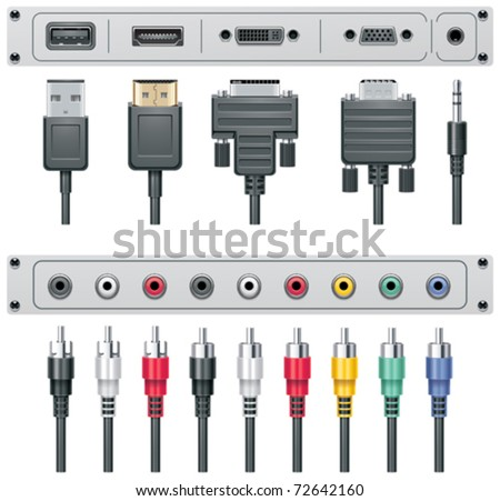 Vector video and audio connectors