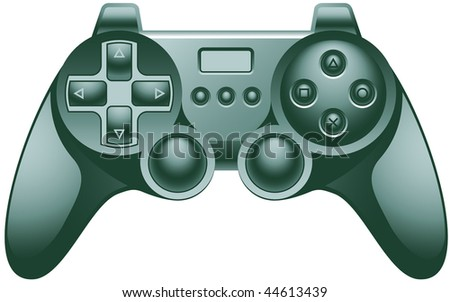 Vector Video Game Controller Pad - stock vector
