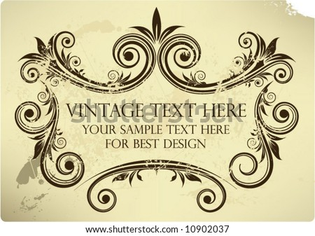 Vector vintage background - stock vector