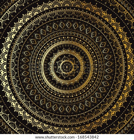 Vector vintage background.  Mandala. Indian decorative pattern. - stock vector