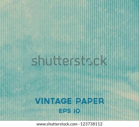 Vector vintage blue paper background - stock vector