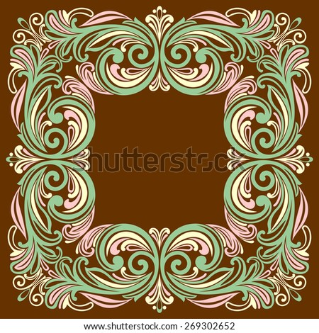 Vector vintage border frame. - stock vector