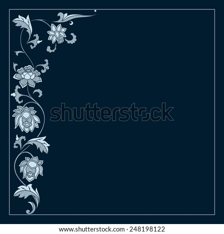 Vector vintage border frame. calligraphic design elements - stock vector