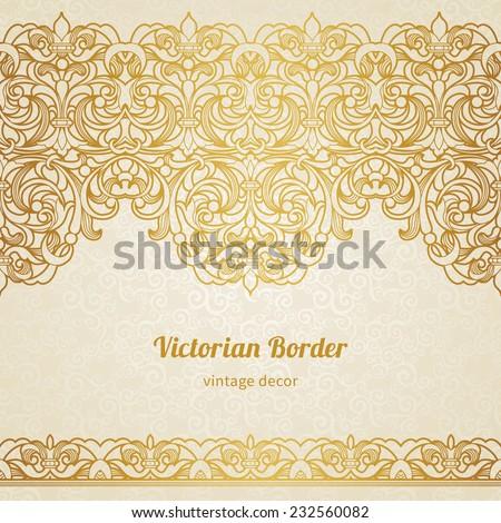 vector vintage border victorian style ornate stock vector 232560082