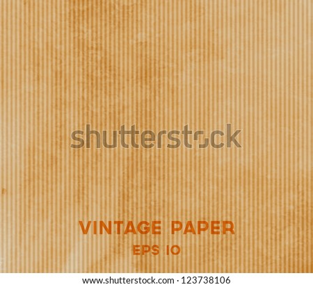 Vector vintage brown paper background - stock vector