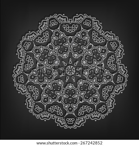 Vector vintage circle pattern in Victorian style. Ornate element for design. Ornamental pattern for wedding invitations, greeting cards, monograms. - stock vector