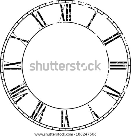 Vector vintage clock on white . Illustration clip art - stock vector