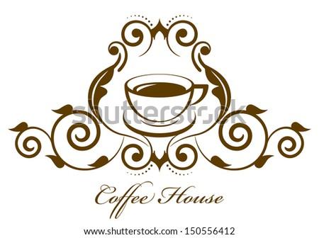 Vector vintage coffee icon - stock vector
