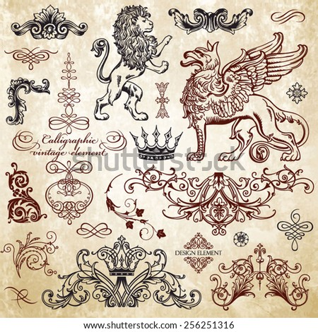 Griffin stock images royalty free images vectors for Baroque design elements