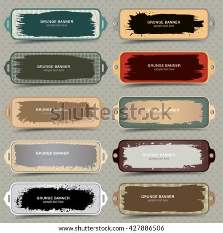 Vector vintage design elements.  - stock vector