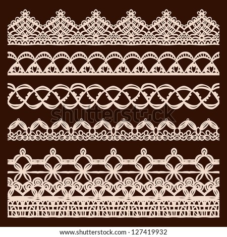 Vector vintage design elements, retro seamless - stock vector