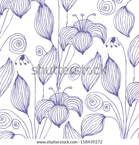 Vector vintage floral background Illustration - stock vector