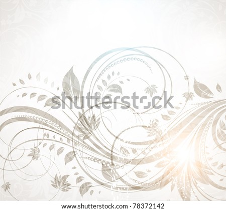 vector vintage floral design with retro flowers. eps 10. - stock vector