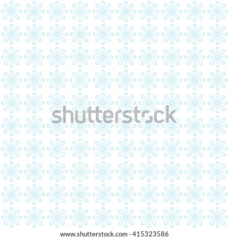 Vector vintage floral patter. Blue flowers.  - stock vector