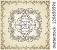 vector vintage floral  pattern on gradient background, fully editable eps 8 file with clipping masks and pattern in swatch menu - stock vector
