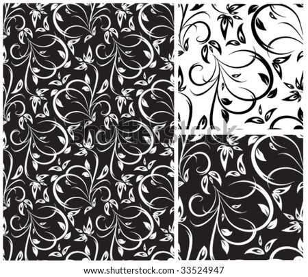 vector vintage floral seamless pattern - stock vector