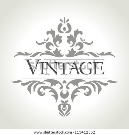 vector vintage frame - stock vector