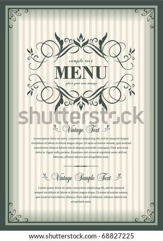 vector vintage frame cover - stock vector