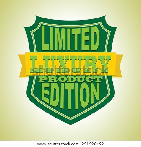 Vector vintage label and shield limited luxury product edition vector illustration