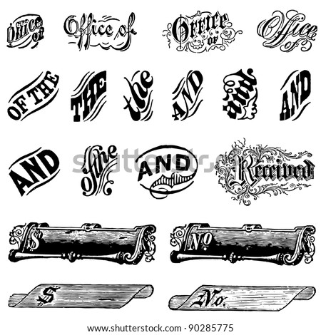 vector vintage letter set easy edit stock vector royalty free