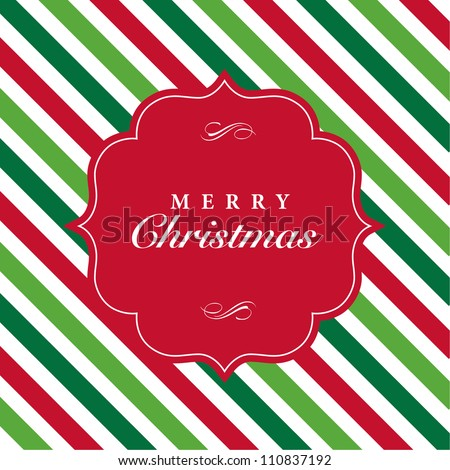 Vector Vintage Merry Christmas Frame. Easy to edit. Perfect for invitations or announcements. - stock vector