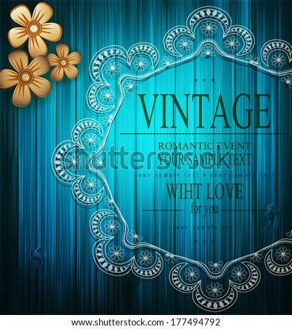 vector vintage romantic background with lace