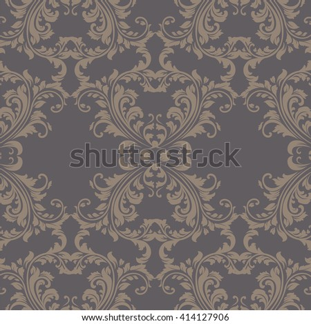 Vector Vintage Spring floral damask pattern element background. Luxury Classic Damask ornament, royal Victorian texture for wallpapers, textile, fabric. ornament