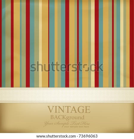 vector vintage striped abstract background - stock vector