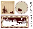 Vector vintage Style background Christmas and winter theme for decoration and design - stock photo