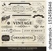 Vector vintage style elements - stock vector