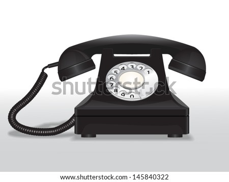 Vector vintage telephone. File is in eps10 format.