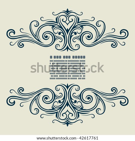 vector vintage template frame In flower style - stock vector