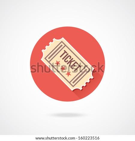 Vector Vintage Ticket Icon - stock vector