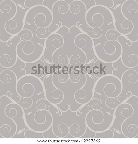 Vector vintage Victorian style wallpaper or background - stock vector