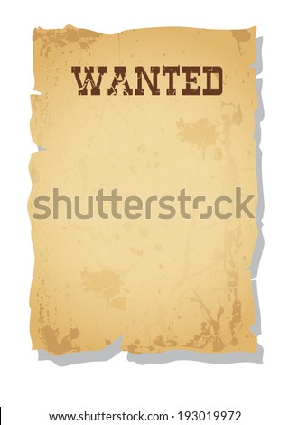 Vector Vintage Wanted poster  - stock vector