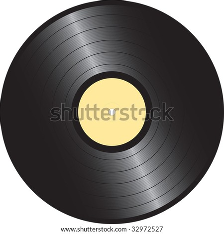 vector vinyl disc - stock vector