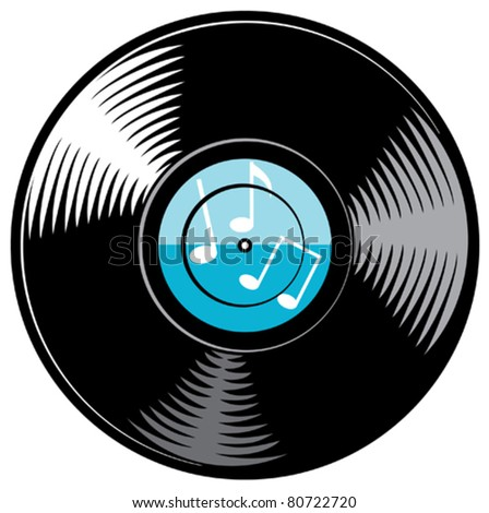 vector vinyl disc (record) - stock vector