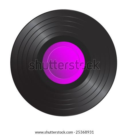 vector vinyl record - stock vector