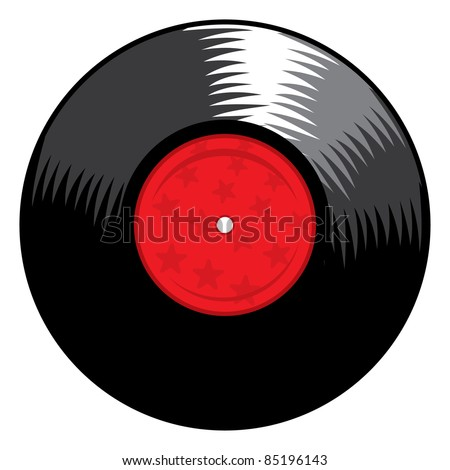 vector vinyl record - stock vector