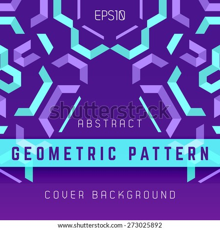 vector violet purple blue symmetric colorful abstract geometric background