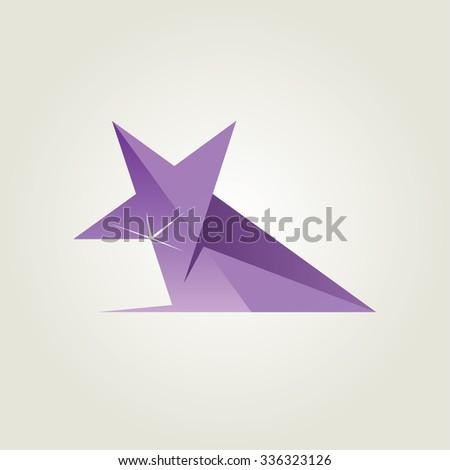 Vector Violet Star Award Icon - stock vector