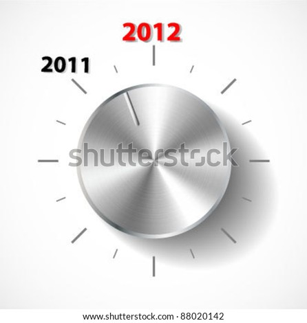 Vector volume knob new year - stock vector