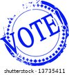 Vector vote stamp on a solid white background - stock photo