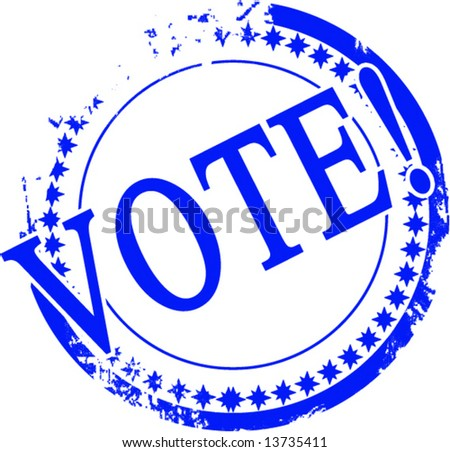 Vector vote stamp on a solid white background - stock vector