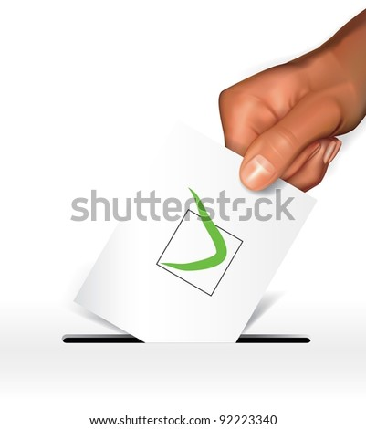 Vector voting concept - stock vector