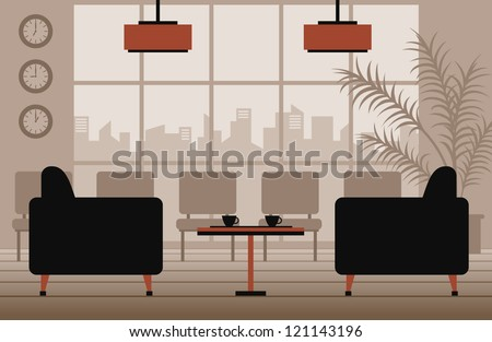 vector waiting room - stock vector