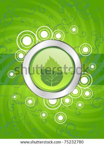 vector wallpaper for go green - stock vector