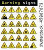 Vector warning signs - stock photo