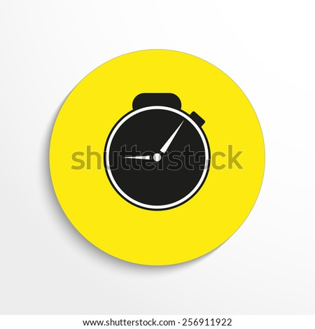 Vector Watch web flat icon. - stock vector