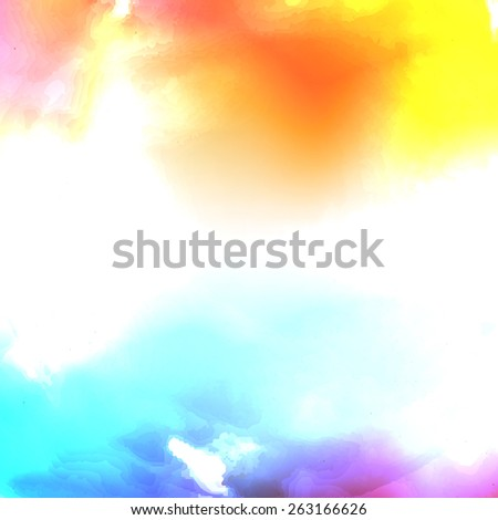 Vector water color cloud. There is blank place for your text. - stock vector